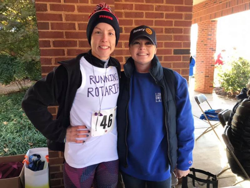 Jen and Pam at the first Rotary Runs